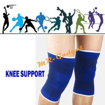 MR-GADGET อุปกรณ์ป้องกัน ปลอกขา ที่กระชับกล้ามเนื้อ ที่รัดขา ที่รัดเข่า ปั่นจักรยาน ฟิตเนส ออกกำลังกาย Knee Support (น้ำเงิน)