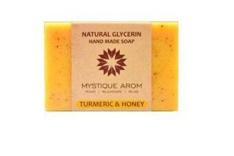 เปรียบเทียบราคา Mystique Arom SOAP สบู่กลีเซอรีน ขมิ้นและน้ำผึ้ง