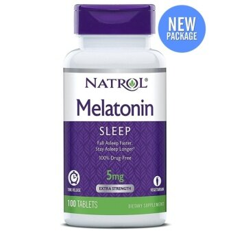 Natrol Melatonin Time Release 5 mg. x 100 เม็ด