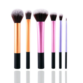 New 6Pcs Professional Beginner Makeup Brush Cosmetic Brushes RealMakeup Powder Brushes Techniques Set Kit - Intl