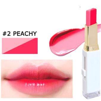 Novo Double Color Lipstick โนโว ลิปสติกสีทูโทน ผสมมอยส์เจอร์ ผิวปากเนียนนุ่ม สี 02