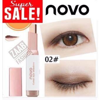 Novo Eye Shadow ของแท้ 100% (Zaab Fashion) Double Color โนโว อายแชโดว์ ทูโทน 2 สีในแท่งเดียว ฮิตที่สุดในตอนนี้ ติดทน กันน้ำ กันเหงื่อ ใช้ง่าย อายแชโดว์ที่สาวๆ ต้องมีติดกระเป๋าไว้ทุกคน