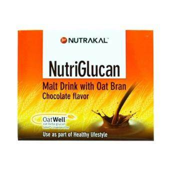 NUTRAKAL NutriGlucan Chocolate Flavor (28 ซอง x 15g) เบต้ากลูแคน จากรำข้าวโอ๊ต และมอลต์สกัด รสช็อคโกแลต