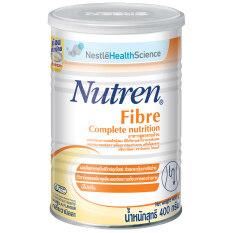 Nutren นิวเทรน ไฟเบอร์ 400g อาหารสูตรครบถ้วน เสริมใยอาหาร กลิ่นวานิลลา (1x400g)