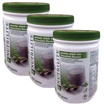 Nutriliteนิวทริไลท์ ออล แพลนท์ โปรตีนผลิตภันฑ์เสริมอาหารโปรตีนสกลัดจากถั่วเหลือง ข้าวสาลีและถั่ว(รสช๊อคโกแลต)(500 g) (ช๊อคโกแลต)แพ็ค3