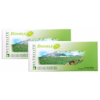 NUTRILITE DOUBLE X Multivitamin/Multimineral/Concentrate (31-day supply) นิวทริไลท์ ดับเบิ้ล เอ็กซ์ แบบเติม 2 กล่อง แพ็คคู่ราคาพิเศษ (แบบไม่มีกล่อง)(สินค้านำเข้าจากมาเลย์)