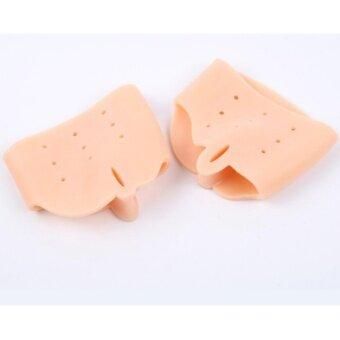 NYB ซิลิโคนป้องกันหน้าเท้าและนิ้วเท้าคด นิ้วเท้าโก่ง ป้องกันรองเท้ากัดด้านข้างนิ้วเท้า 1คู่ (สีเนื้อ)