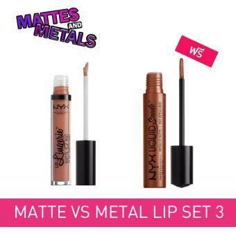 จัดโปรโมชั่น NYX Professional Makeup Matte VS Metal Lip set 3