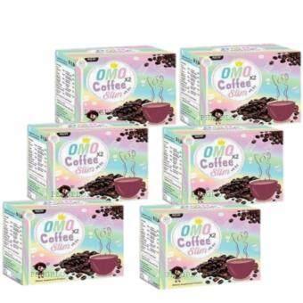 Omo x 2 Coffee Slim โอโม่ คอฟฟี่ สลิม กาแฟโอโม่ ดื่มปุ๊บ เพรียวปั๊บ 6 กล่อง (1 กล่อง/10 ซอง)