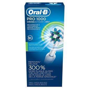 แปรงสีฟันไฟฟ้า Oral-B White Pro 1000 Power Rechargeable Toothbrush Powered by Braun