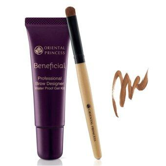 ORIENTAL PRINCESS เจลเขียนคิ้ว Beneficial Professional Brow Designer Waterproof Gel Kit No.02 Brown Cocoa 8 g.