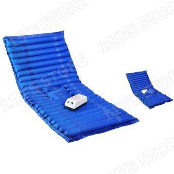 ที่นอนกันแผลกดทับ รุ่นเปิดช่องขับถ่าย ที่นอนลมช่วยป้องกันแผลกดทับสำหรับผู้ป่วย พร้อมมอเตอร์ทำงานอัตโนมัติ- สีน้ำเงิน (ควบคุมคุณภาพ Package Boxset พร้อมกล่อง) - 5