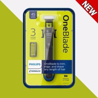 Harga Philips Norelco OneBlade hybrid electric trimmer and shaver - intl