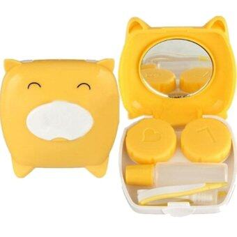 Harga Piggy Shape Travel Contact Lens Soak Storage Box - intl