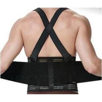 PlusSlim back support belt เข็มขัดพยุุงหลัง supportหลังเอวป้องกันบาดเจ็บยกของ สีดำ size XXL