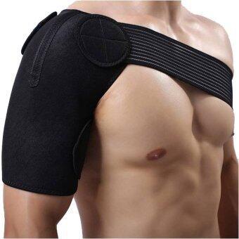 plusslim เข็มขัดพยุงไหล่ ป้องกัน ลดการบาดเจ็บ ช่วยประคองไหล่เพื่อการออกกำลังกาย sport shoulder support สีดำ free size - 2