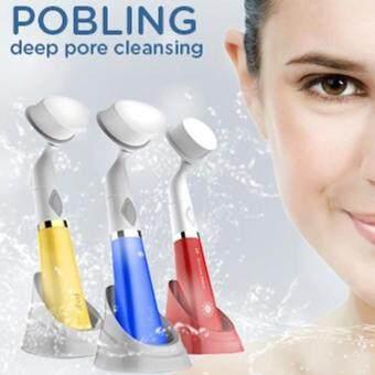 ราคา Po Bling Pore Sonic Cleanser Color # Blue แปรงทำความสะอาดผิวหน้า-สีทอง