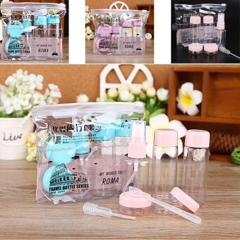 Popular 7Pcs/set Make Up Container Kits Empty Mini Plastic Bottle Cosmetic Case - intl