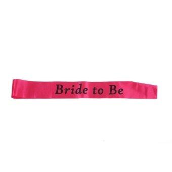 Popular Sash Headband Hen Party Favor Tiara Rose Red Bachelorette Personalised Banner - intl