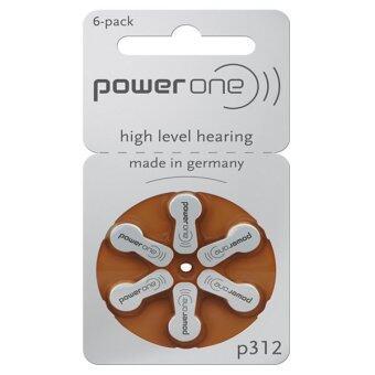 ราคา Powerone ถ่านเครื่องช่วยฟัง เบอร์ 312 จำนวน 10 แผง