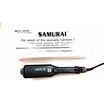 2560 SAMURAI straight and curl 100% solid ceramic hair straightener with temperature control