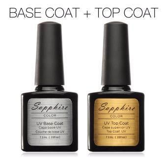 อยากขาย Sapphire Top Coat + Base Coat ท็อปโค้ท + เบสโค้ท เล็บสีเจล Soak OffGel 7.3ml