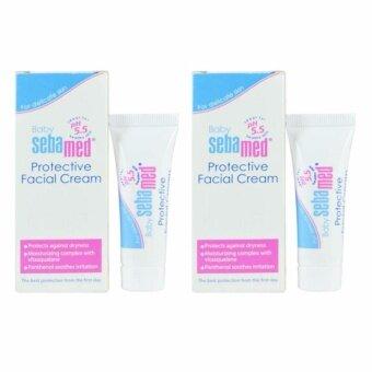 Sebamed Baby Protective Facial Cream 10ml ลดผื่นแพ้ เกลื้อนน้ำนม บนใบหน้า x 2 กล่อง