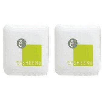 SHEENE OIL FREE CAKE SPF 25 PA++ No.C2 แป้งตลับเล็ก 3.5 g. ( 2ตลับ)