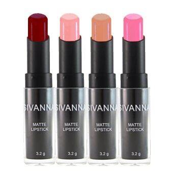 Sivanna Colors ลิปสติก เนื้อแมท Matte Lipstick HF308 (4 แท่ง) #Set3