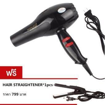 Small Target Hair dryer ไดร์เป่าผม เครื่องเป่าผมไฟฟ้า 1600W รุ่นNB-001001 (Black)ฟรี Mini Straight Hair NB-01002(Black)