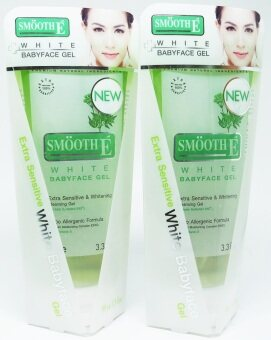 Smooth-E White Babyface Gel Extra SensitiveWhitening Cleansing Gel 99 MLx 2 หลอด