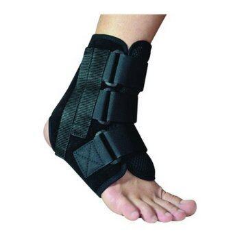 2560 Softguards Ankle Brace อุปกรณ์พยุงข้อเท้า แบบมีแกนข้าง (Black)