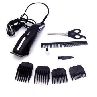 SONAR แบตตาเลี่ยนตัดผมชายสีดำ แบตเตอเลี่ยนมีสาย แบตเตอร์เลี่ยนตัดผมเด็ก ชุดปัตตาเลี่ยนไฟฟ้าพร้อมหวีรองปัตตาเลี่ยน BLACK Professional Electric Hair Clipper Set For Men & Women