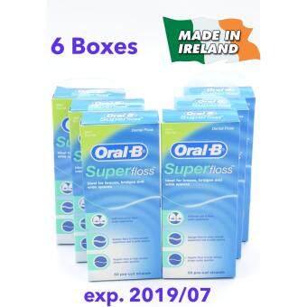 Superfloss Oral-B Superfloss Mint ทั้งแพค (6 กล่อง)