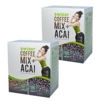 SWIZER COFFEE MIX ACAI BERRY สไวเซอร์ คอฟฟี่ มิกซ์ พลัส อาซาอิ 15 กรัม * 10 ซอง (2 กล่อง)