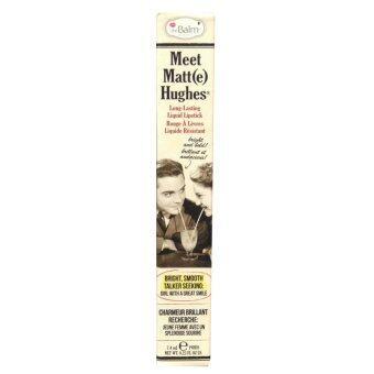 The balm Meet Matte Hughes Long Lasting Liquid Lipstick 7.4ml ลิควิดลิปสติกเนื้อแมตต์ เม็ดสีแน่นติดทนนาน #Dedicated