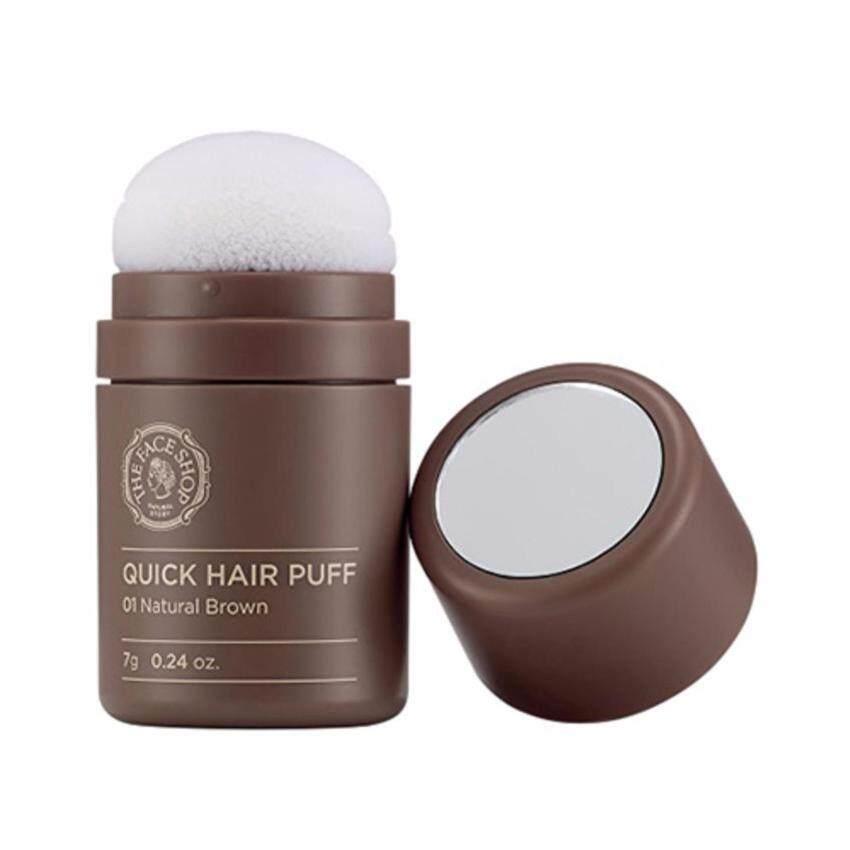 The Face Shop Quick Hair Puff 7g. No.1 Natural Brow อุปกรณ์ช่วยปิดหัวเหม่งหรือบริเวณที่ผมบาง สีน้ำตาลธรรมชาติ