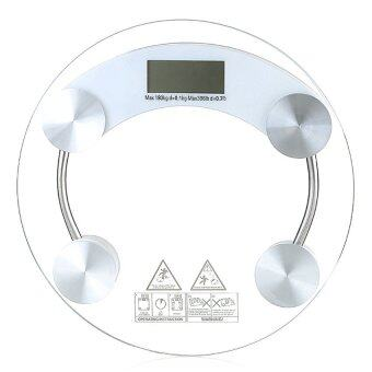 Tmall Electronic weight scale เครื่องชั่งน้ำหนักดิจิตอล กระจกใส รุ่น (white)