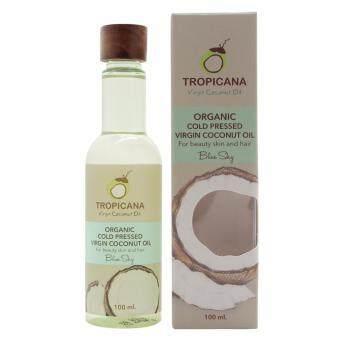 Tropicana น้ำมันมะพร้าวออเกนิคสำหรับทาผิวและผม กลิ่น Blue Sky