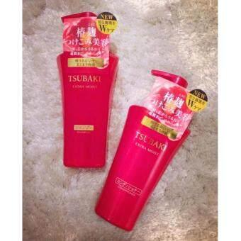 TSUBAKI EXTRA MOIST 500ML[แพ็คพิเศษ ซื้อแชมพู พร้อมครีมนวด] ซึบากิ เอ็กซ์ตร้ามอยส์
