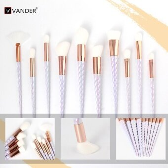 Harga VANDER # 2390 Cosmetic Brush Set Beauty Facial Beauty Tools - 10PCS(White) - intl