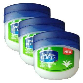 Vaseline BlueSeal Light Hydrating Jelly aloe Fresh 100ml (3 กระปุก)