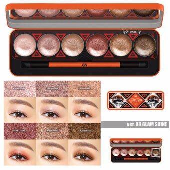 Ver.88 Glam Shine Cream Eyeshadow Palette อายแชโดว์เนื้อครีม ประกายชิมเมอร์ เกลี่ยง่าย เม็ดสีคมชัด ติดแน่นยาวนาน กันน้ำ กันเหงื่อ6 เฉดสีสวย (1 กล่อง)