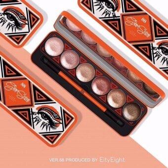 ขายด่วน Ver.88 Glam Shine Cream Eyeshadow Palette อายแชโดว์เนื้อครีม จำนวน 1 ตลับ