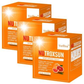 NUTROXSUN Verena อาหารเสริมนูทรอกซัน คอลลาเจนกันแดด(10ซองx 3Packed)