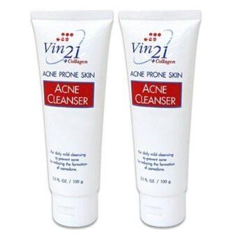 Vin 21 Acne Cleanser โฟมล้างหน้า ควบคุมความมัน (2 หลอด)