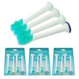 แปรงสีฟันไฟฟ้า รอยยิ้มขาวสดใสใน 1 สัปดาห์ แพร่ Vinmax 12pcs Electric Toothbrushes Heads Replacement Brush Heads For HX6014 Toothbrush  Green)   intl