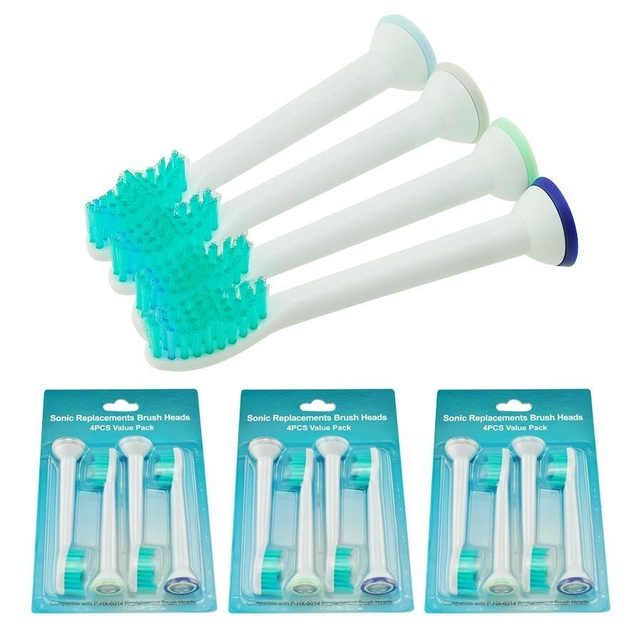 แพร่ Vinmax 12pcs Electric Toothbrushes Heads Replacement Brush Heads For HX6014 Toothbrush  Green)   intl