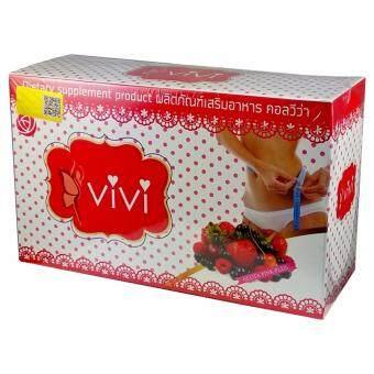 ViVi Gluta Pink Plus คอลวีว่า วีวี่ ซูปเปอร์สลิม กลูต้า ACพิงค์พลัส 1 กล่อง (10 ซอง/กล่อง)