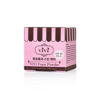 ViVi แป้งโฟมกันแดด สูตรเกาหลี SPF 40 PA+++ ขนาด 5g. (สีชมพู) - 2